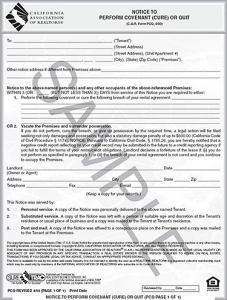 notice to perform real estate transaction - san pedro real estate attorney